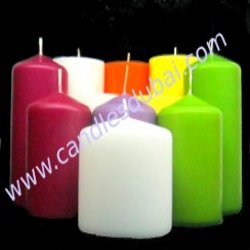 COLOR PILLAR SCENTED CANDLES