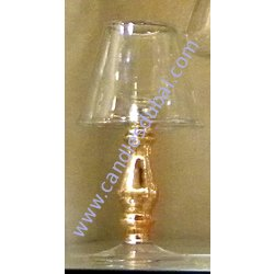 Pillar Candle Holders Gold and Glass Finish