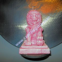 chinese-lion-bust-candles
