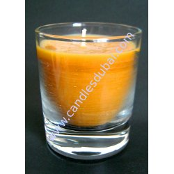 Glass Blue Berry Container Candles