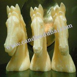 Designer Arabian Horses Bust Candles