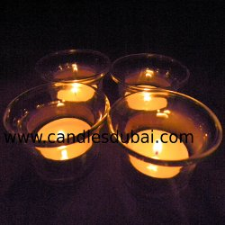 Tea Light Candles with Glass Holder